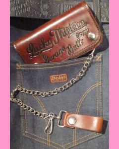 Lucky 13 Garage Built embossed 6 inch chain wallet