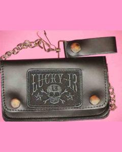 Black Skull Stars 6 Inch Wallet