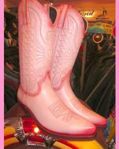 Pink leather Mexico Boots