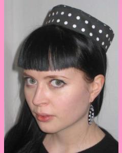Large Polka Dot Pill Box Hat