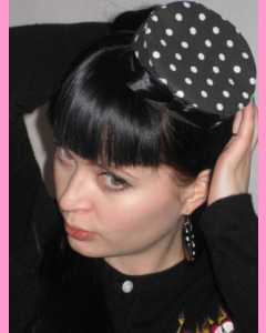 Small Polka Dot Pill Box Hat