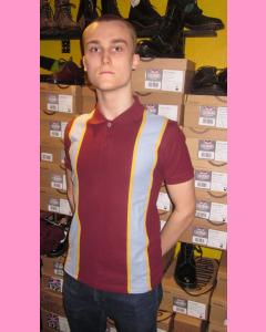 Burgundy Polo Panel Shirt