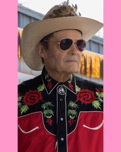 Black and red Rockmount Two Tone Rose Embroidered Western Shirt