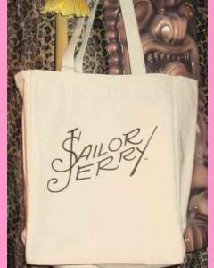 Natural White Sailor Jerry Signature Tote Bag