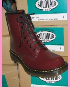 Oxblood Solovair 8 Hole Soft Cap Derby Boot