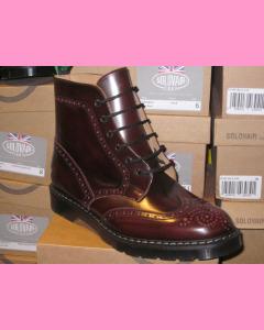 Burgundy Rub-Off Solovair Brogue Boot