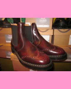 Burgundy Rub-Off Solovair Punched Dealer Boot