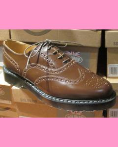 Nut Brown Solovair English Brogue Shoes