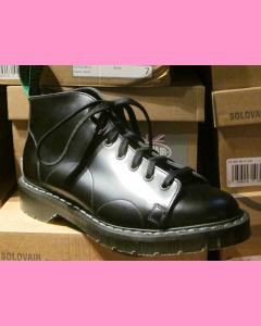 Black Soft Cap 7 Hole  Solovair Monkey Boot