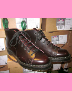 Solovair Monkey Boot, Burgundy Rub-Off