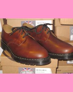Brown Gaucho Solovair 3 Hole Gibson Shoes