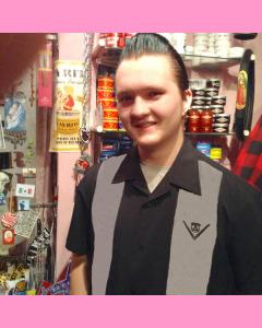 Black and grey Emblem Panel Shirt