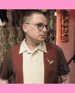 Brown Atomic Mad Men Shirt