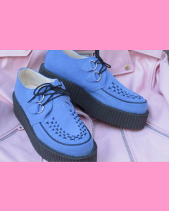 Electric blue D-Ring Stomppers