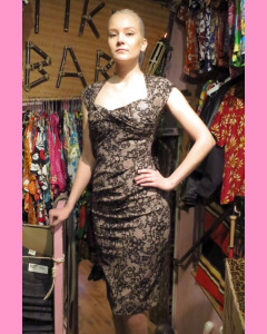 Pink Lace Stop Staring Love Dress