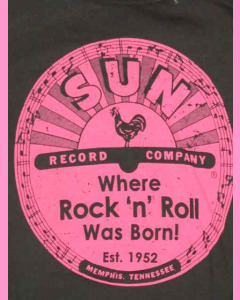 Ladies Sun Records Pink Logo Tee