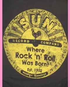 Ladies Sun Records Distresssed Logo Tee
