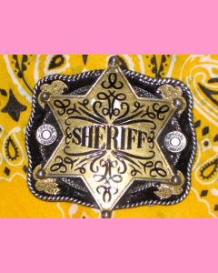 Black Sheriff Star Belt Buckle