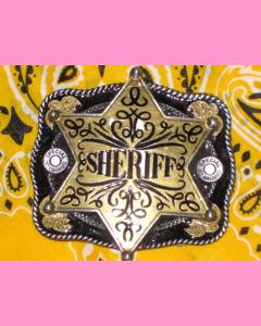Black Sheriff Star Belt Buckle