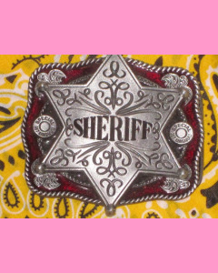 Red Sheriff Star Belt Buckle