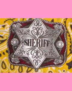 Red Sheriff Star Belt Buckle
