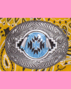 Turquoise Indian Shield Buckle