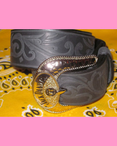 Jack Daniels Buckle Belt, Black