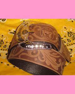 Jack Daniels Buckle Belt, Brown