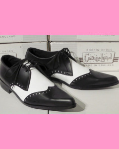 Black and White Brogue Winkle-Pickers