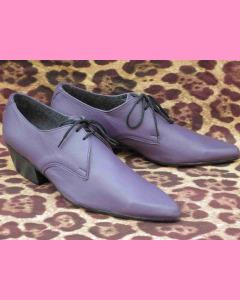 Purple Cuban Heel Winkle-Pickers
