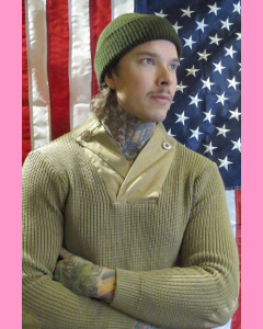 Khaki World War II Mechanics Sweater